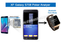 Korean Samsung Galaxy S708 Poker Analyzer With Double Camera Bluetooth Watch