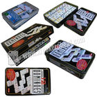Colorful Point Marked Dominoes Invisible Playing Cards For UV Contact Lenses Gambling Device