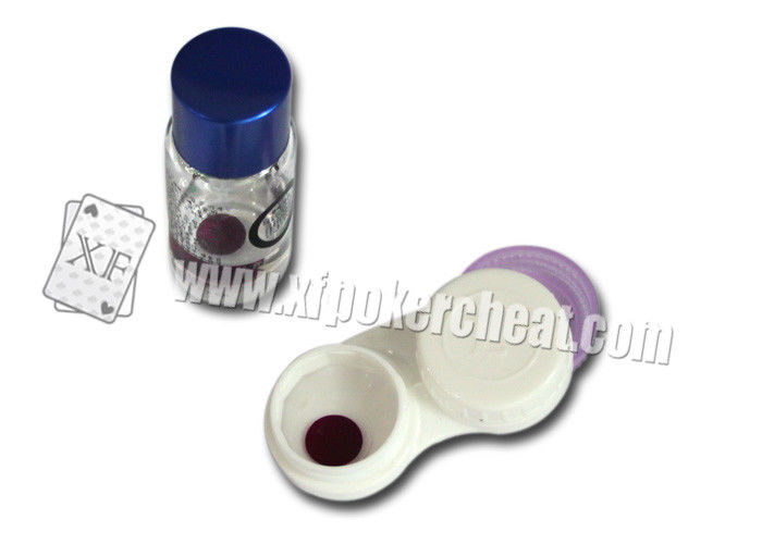 Dark Purple Invisible Ink Contact Lenses For Poker Cheat Gambling Props