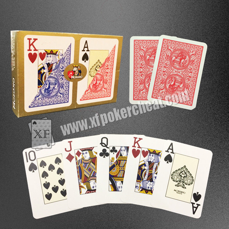 Modiano Plastic Playing Cards / Golden Trophy Casino Cards For Texas Poker