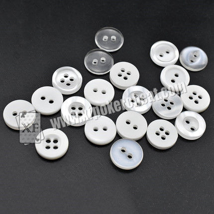 Removable Button Barcode Poker Scanner / Marked Poker Cards Shirt Button Camera