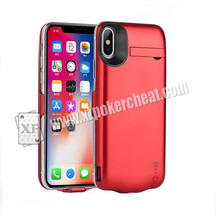 5.8 Inch iPhone X Power Case Camera For Poker cheat With 20 - 60cm Distance