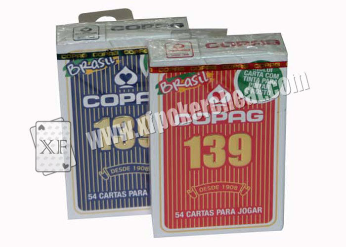 Waterproof Gambling Copag 139 Bridge Size Regular Index Paper Playing Cards