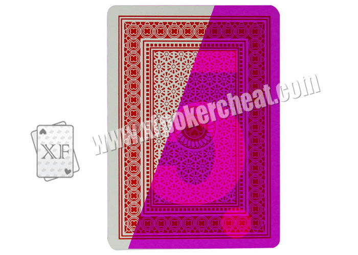 China 100% Plastic 4 Index Jumbo Poker Marked Playing Cards For Poker Cheat